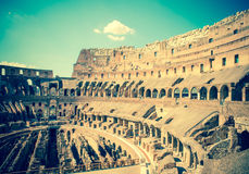 Italy. Rome. The ancient Collosseo. Tinted photo.  Stock Photography