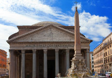 Italy. Rome. An ancient Pantheon against the cloudy sky Royalty Free Stock Photography