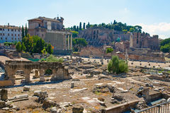 Italy.Rome.Ancient ruins of the Roman Forum Royalty Free Stock Photo