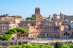 Italy, Rome, ancient Trajan's markets. The picture was taken in the morning, from the observation platform on Capitol Hill Stock Photo