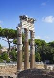 italy rome antika italy rome fördärvar tempelvenusen Arkivbilder