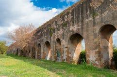 Italy Rome aqueduct royalty free stock photo
