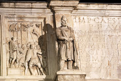 Italy Rome, Arch of Constantine. royalty free stock images