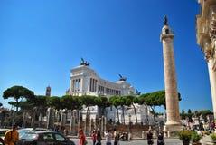 Piazza Venezia in Rome (Italy) Stock Photo