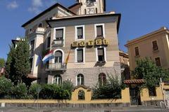 italy rome Blött hotell (59 via Santa Croce i Gerusalemme) Arkivbilder
