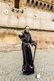 Italy - ROME - Castel Sant'Angelo, artista di strada Stock Photo