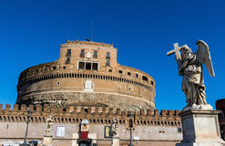Italy, rome, castel sant angelo Stock Photography