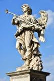 Italy - Rome, Castel Sant`Angelo, statua di Angelo con la spugna. Scultore Antonio Giorgetti, iscrizione `Potaverunt me aceto stock images