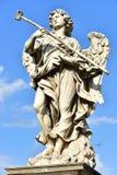 Italy - Rome, Castel Sant`Angelo, statua di Angelo con la spugna. Scultore Antonio Giorgetti, iscrizione `Potaverunt me aceto stock image