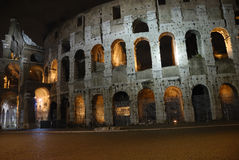 Italy Rome, Coliseum. Coliseum. Nocturnal view of the most famous monument in Rome Royalty Free Stock Photo