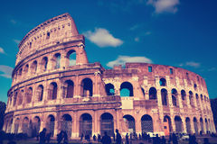 Italy. Rome.  Collosseo,with a retro effect Royalty Free Stock Photo