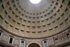 Italy. Rome. Dome of the Pantheon. Indoor Stock Image