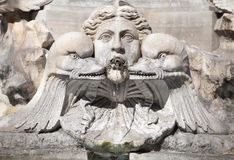 Italy, Rome. Fontana del Pantheon, fragment Stock Photography