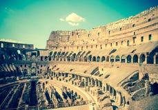 italy rome forntida collosseo italy rome Tonat foto Arkivbild