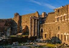 italy rome grangen fördärvar arkivfoton