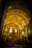 Italy,Rome, inside San Pietro. Italy,Rome,Vatican, San Pietro St Peter Cathedral royalty free stock photo