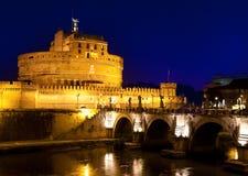 Italy. Rome. Night. Castel Sant' Angelo Stock Photography