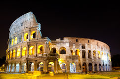 Italy. Rome. The night Collosseo Royalty Free Stock Photos