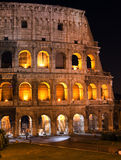 Italy. Rome. The night Collosseo.Night city landscape Royalty Free Stock Image