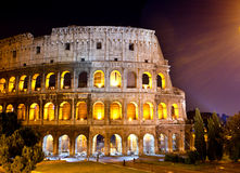 Italy. Rome. The night Collosseo.Night city landscape Royalty Free Stock Photography
