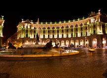 Italy  Rome  Night  The Republic square. Royalty Free Stock Photography