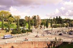 Italy. Rome, Italy - November 2016: the streets of Rome stock photo
