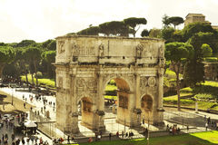 Italy. Rome, Italy - November 2016: the triumphal arch of Constantine stock photo