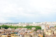Italy Rome panoramic view royalty free stock photos