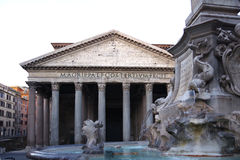 Italy Rome Pantheon Antique Roman Monument Stock Photography