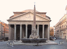 Italy Rome Pantheon Antique Roman Monument Royalty Free Stock Photo