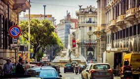 Italy, Rome, Piazza della Reppublica ahead. Italy, Rome, busy streets near Piazza della Reppublica royalty free stock photo