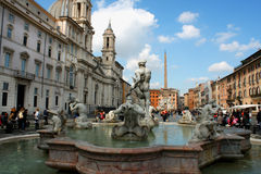 Italy, Rome Piazza Navona, the fountain Royalty Free Stock Photo