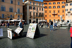 Italy, Rome Piazza Navona, the fountain Royalty Free Stock Image