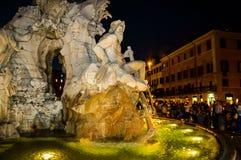 Italy,Rome, Piazza Navona,Fountain of the Four Rivers No3. Italy,Rome, Piazza Navona,Fountain of the Four Rivers(Fontana dei Quattro Fiumi)by Bernini (fragment) royalty free stock image