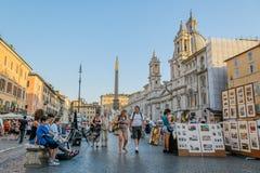 Italy - Rome - Piazza Navona Royalty Free Stock Photos