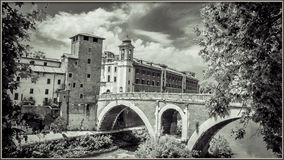 Italy,Rome, Ponte Rotto Bridge Royalty Free Stock Images