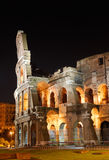 Italy. Rome ( Roma ). Colosseo (Coliseum) at night. Italy. Rome ( Roma ). Colosseo (Coliseum). Night view. Fragment stock photography