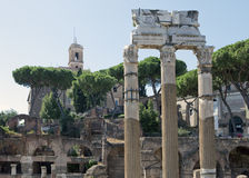 Italy. Rome. Ruins of an antique temple of Venus in  sunny day Stock Images