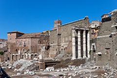 Italy. Rome. Ruins of a forum of Trajan Stock Photography