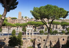 Italy. Rome. Ruins of  Trajan forum Stock Photography