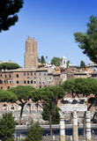 Italy. Rome. Ruins of  Trajan forum Stock Photo