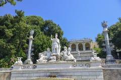 italy Rome Rzeźba w piazza Del Popolo kwadracie obrazy royalty free