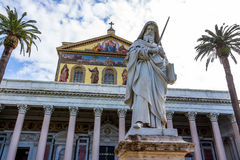 Italy, rome, san paolo fuori le mura Stock Photo
