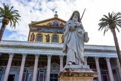 Italy, rome, san paolo fuori le mura Stock Image