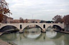 italy rome Sikt av Tiberen Royaltyfri Bild