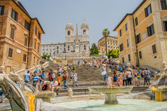 Italy - Rome - Spanish Steps Stock Photography