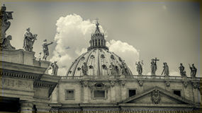 Italy,Rome, St Peter's Square. Vatican. The Dome Stock Image