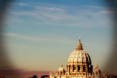 Italy, rome, st. peters basilica Stock Images