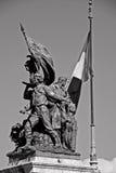 italy rome tjäna som soldat statyn Arkivfoton