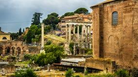 Italy,Rome, Trajan's Forum. Italy,Rome, Forum Traiano (Trajan's Forum)with the Trajan's Column royalty free stock image